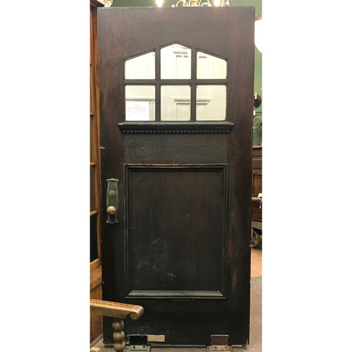 "D21001 - Antique Oak Door with Peaked Window 35-3/4"" x 79-5/8"""