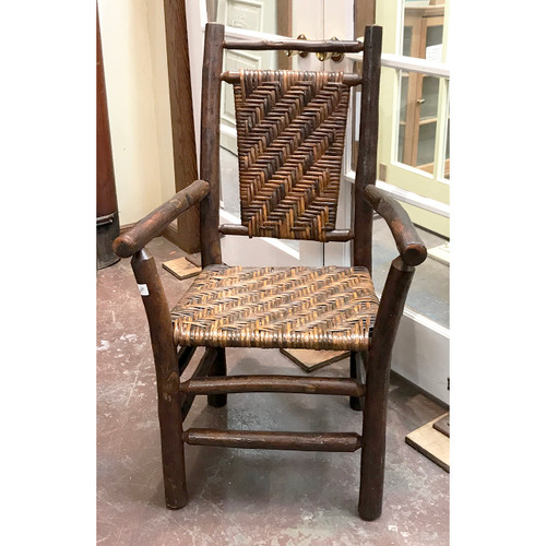 F21016 - Antique Hickory Adirondack Chair