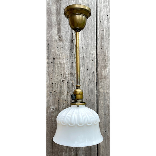 L21030 - Antique Brass Pendant Fixture