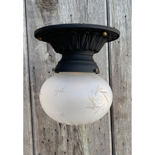 L21036 - Antique Shade on Reproduction Fixture