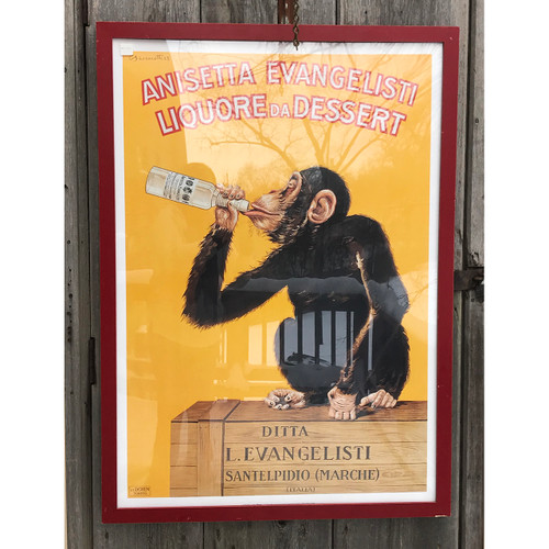 A21033 - Contemporary Italian Liqueur Lithographic Poster in Frame