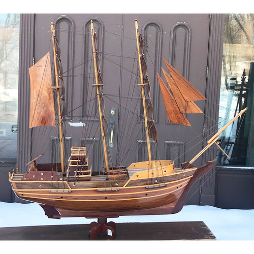 A21036 - Vintage All Wood Model Ship