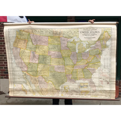 A21042 - Antique United States & Territorial Possessions Map