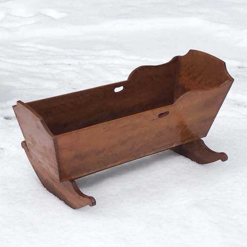 F21034 - Antique Victorian Cherry Cradle