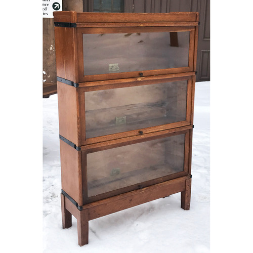 F21038 - Antique Three Stack Barrister Bookcase