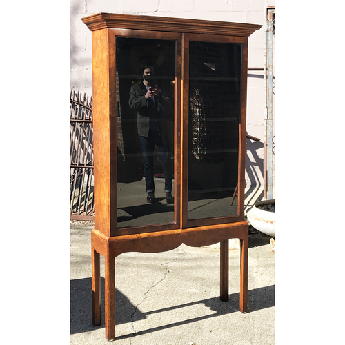 F21044 - Antique Two Door Biedermeier Style Cabinet