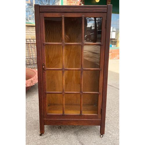 F21048 - Antique Oak Arts & Crafts Bookcase
