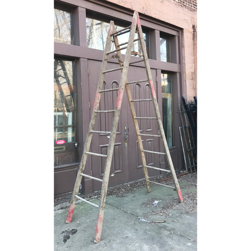 A21052 - Antique 9 Foot Ladder
