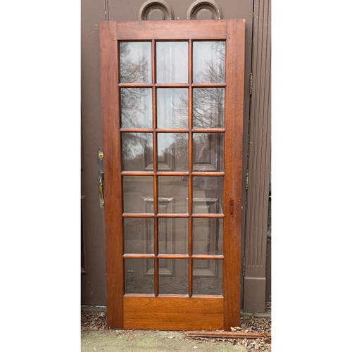 "D21034 - Antique Mahogany French Door 35-3/4"" x 80"""