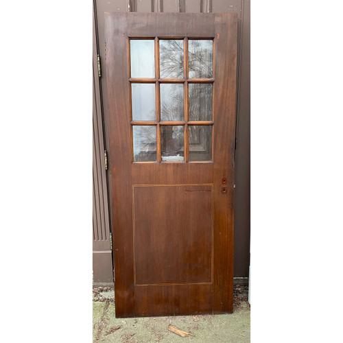"D21035 - Antique Mahogany Flush Part Light Door 31-5/8"" x 77-1/4"""