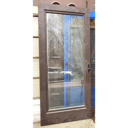 "D21037- Antique Painted Pine Exterior Screen/Storm Door 35-3/4"" x 80"""
