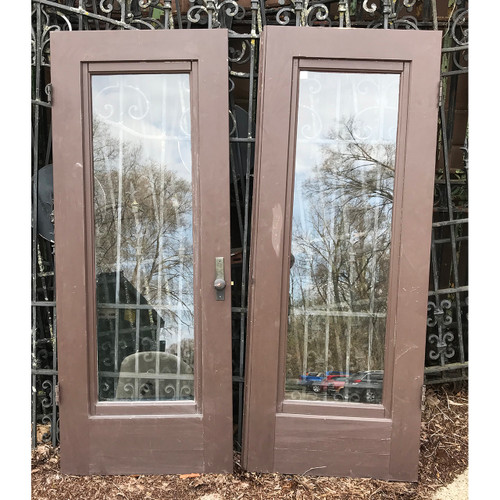 "D21038- Antique Pair of Exterior Storm Doors 48"" x 61"""
