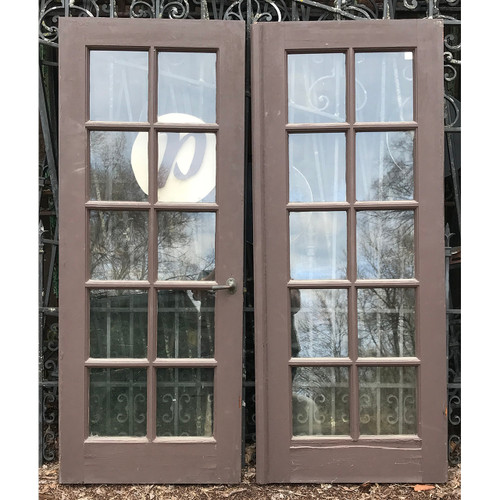 "D21039- Antique Pair of Exterior Mahogany French Doors 48"" x 60"""