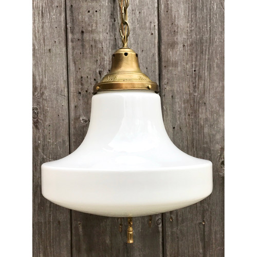 L21082 - Antique Schoolhouse Pendant Fixture
