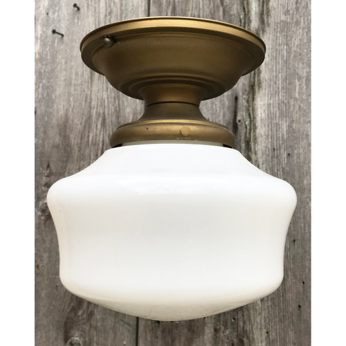 L21086 - Antique Schoolhouse Flush Mount Fixture