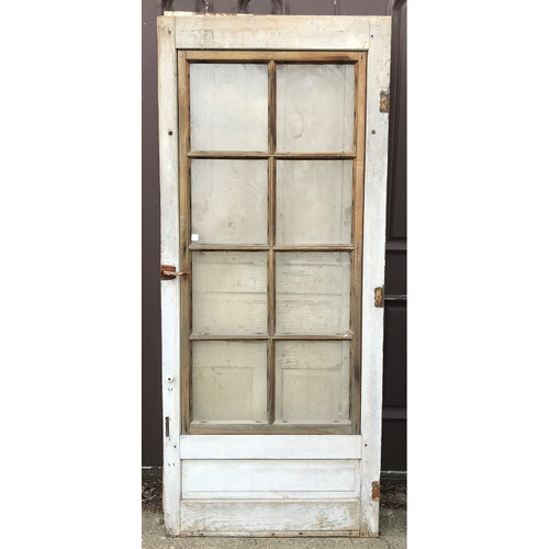 "D21040 - Antique Painted Pine Storm Door 33-1/4"" x 77-1/4"""
