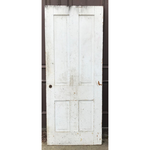 "D21042 - Antique Four Panel Interior Door 31-1/2"" x 78"""