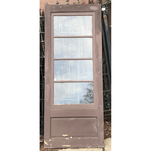 "D21048 - Antique Painted Pine Storm/Screen Door 31-3/4"" x 78-1/2"""