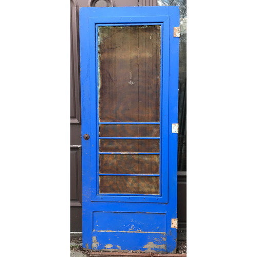 "D21049 - Antique Painted Pine Screen Door 32"" x 80-1/4"""