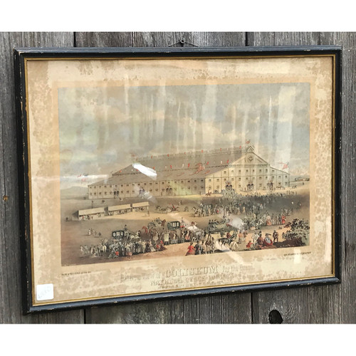 A21060 - Hand Colored Lithograph of Colosseum Boston MA