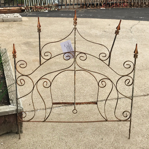 S21020 - Vintage Iron Decorative Garden Gate with Spears