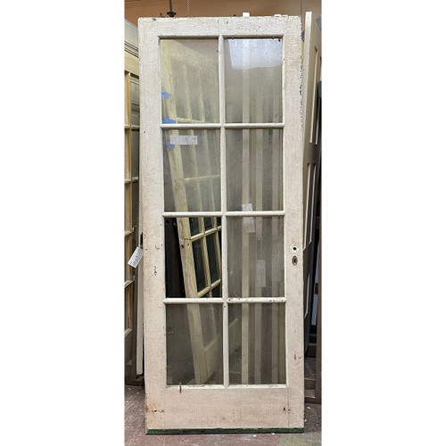 "D21057 - Antique Exterior Eight Light French Door 32"" x 82"""