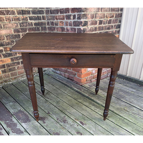 F21083 - Antique Poplar and Walnut Work Table