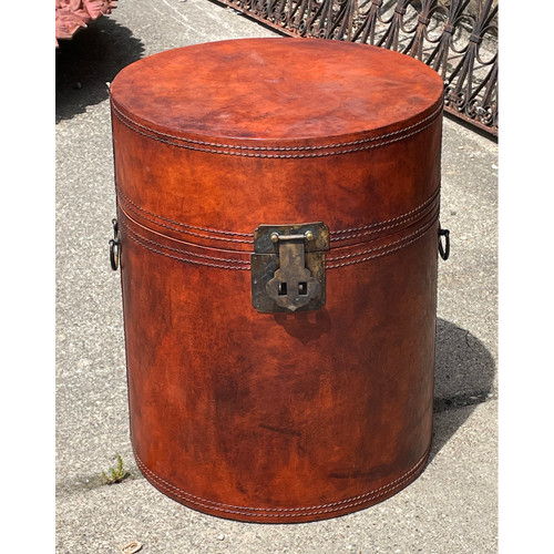A21072 - Vintage Leather Container