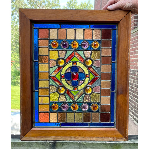 G21046 - Antique Stained Glass Window