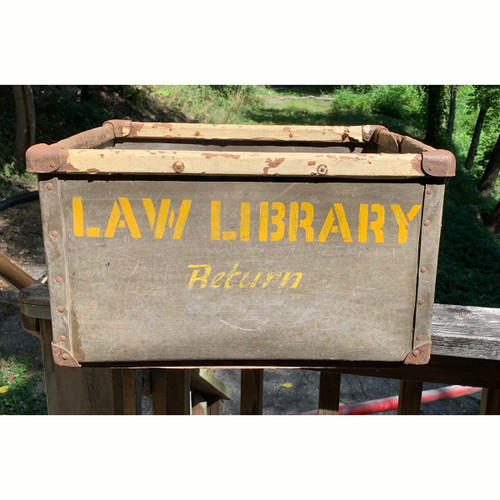 A21104 - Antique Law Library Book Bin