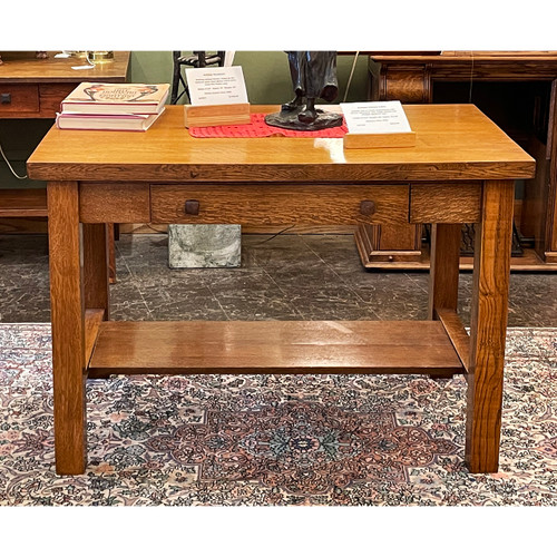 F21143 - Antique Arts & Crafts Library Table
