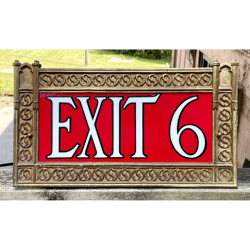 L21233 - Antique Exit Sign from Cass Tech
