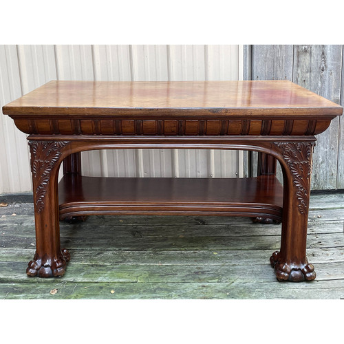 F21162 - Antique Library Table