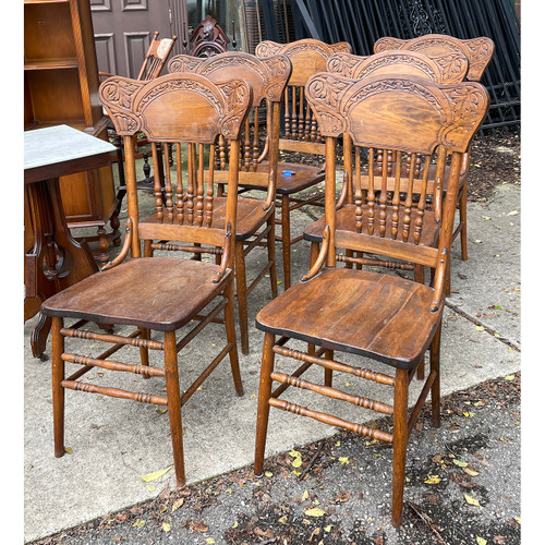 F21191 - Set of Six Antique Dining Chairs