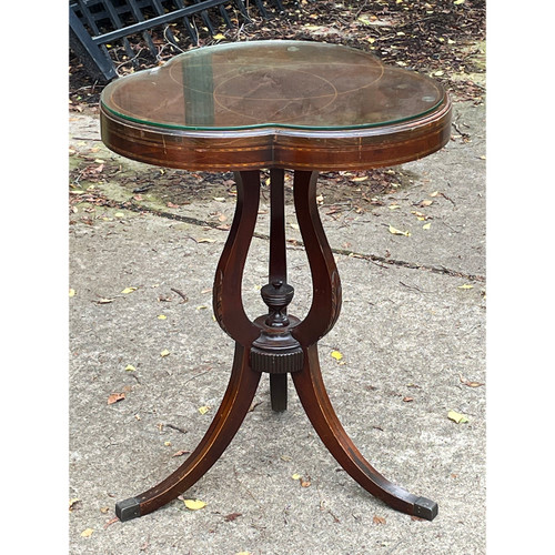 F21196 - Antique Side Table with Inlay
