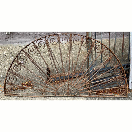 S21055 - Antique Wrought Iron Window Grill
