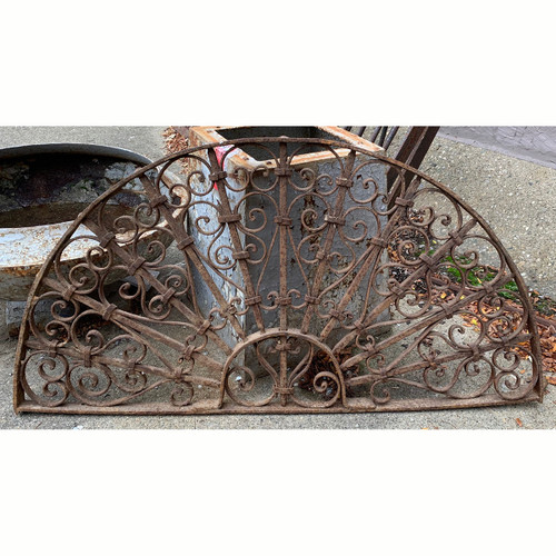 S21056 - Antique Wrought Iron Window Grill