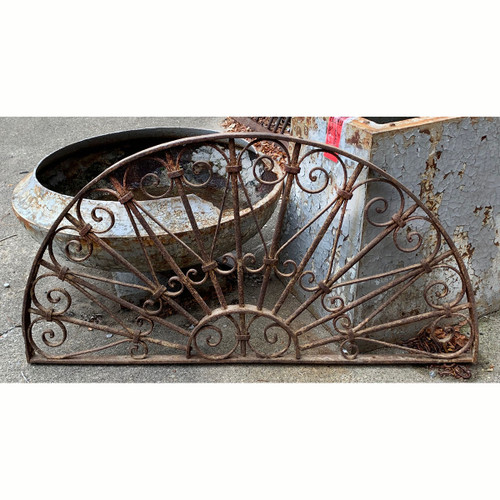 S21057 - Antique Wrought Iron Window Grill