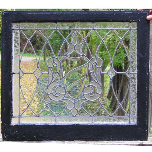 G11055 - Antique Tudor Revival Style Transom Window