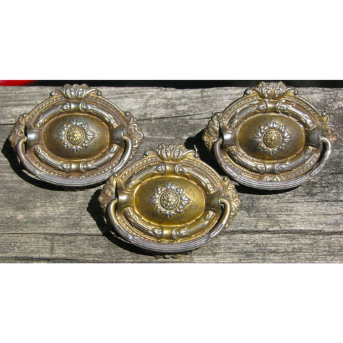 H12088 - Set of Three Antique Furniture Pulls