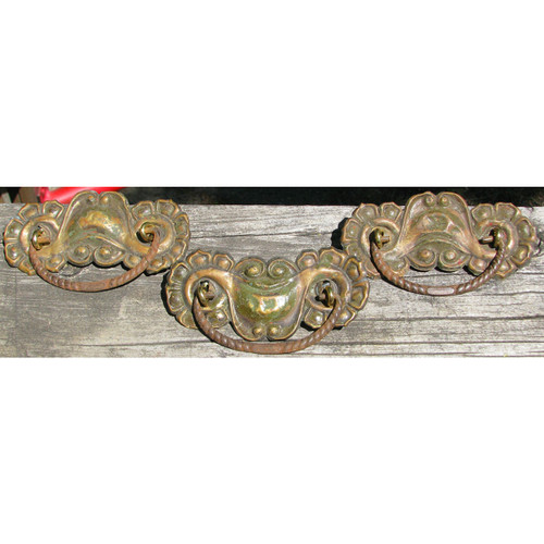 H12092 - Set of Three Antique Furniture Pulls