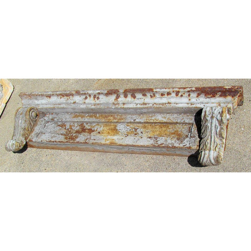 S13054 - Antique Cast Iron Header