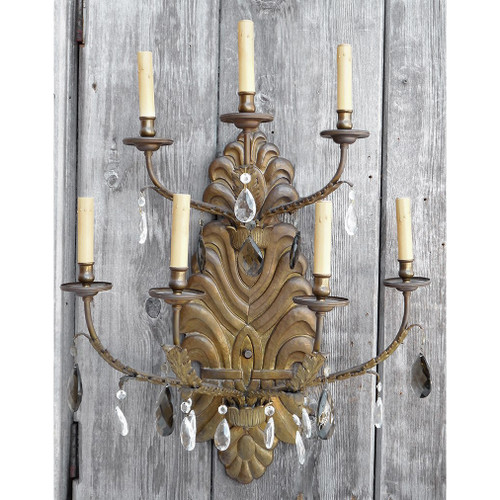 608534 - Antique Italian Candle Arm Wall Sconce