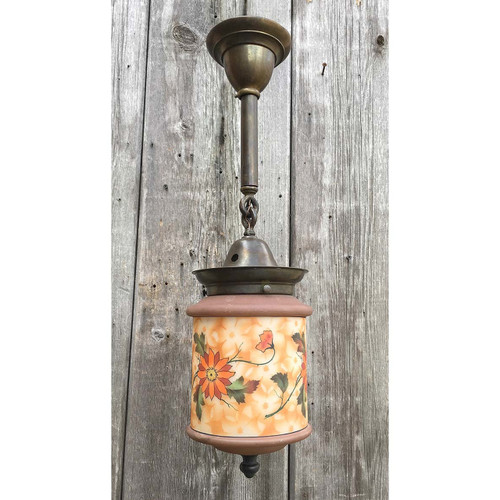 609169 - Antique Arts and Crafts Ceiling Light Fixture from Czechoslovakia