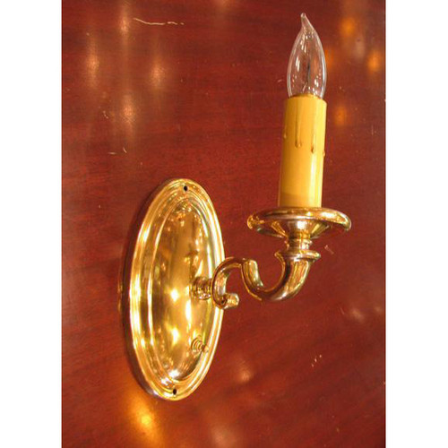 609397- Antique Colonal Revival Candle Arm Wall Sconce