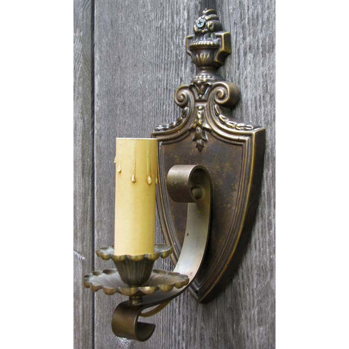 609414 -  Antique Colonial Revival Candle Arm Wall Sconce