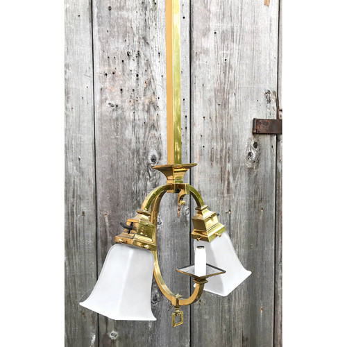 609713 - Antique Arts and Crafts Ceiling Light Fixture made by Bradley and Hubbard