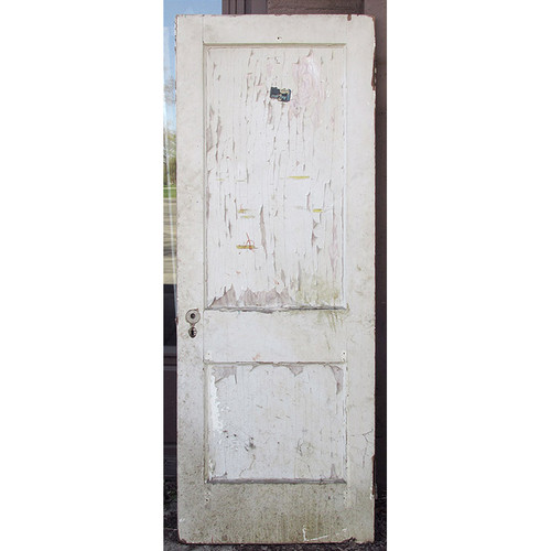 "D15029 - Antique Interior Two Panel Door 30"" x 80"""