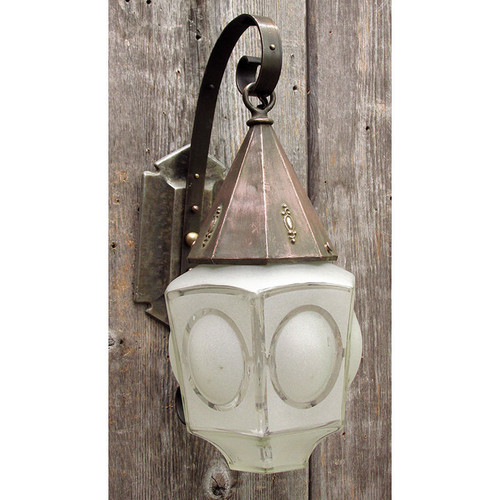 L15243 - Antique Tudor Revival Lantern Sconce