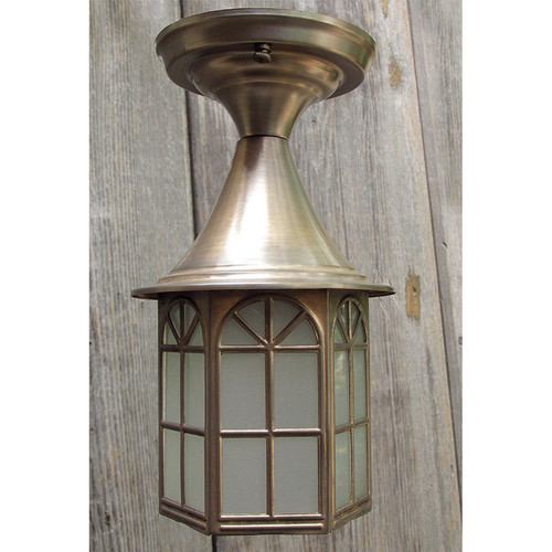 L15247 - Antique Brass Colonial Revival Style Exterior Porch Light